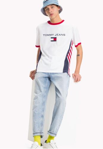 Tommy Jeans white TJM 90s SOCCER TEE ADFDDAA245B18EGS_1