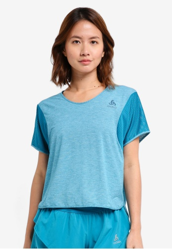 Odlo blue BL Top Cropped Crew Neck Short Sleeve Maia Tee C125BAA760DAD6GS_1