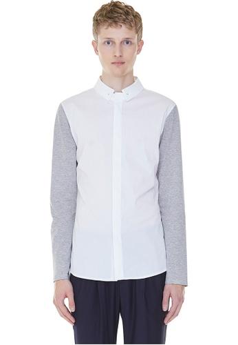 MILLOGREM white Detachable Collar Shirts MI241AA0GNNNSG_1