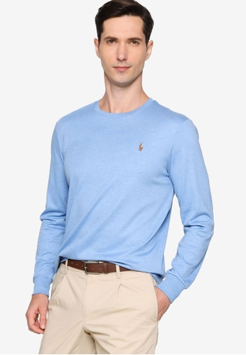 Polo Ralph Lauren 藍色 Custom Slim Fit Long Sleeve T-Shirt A1821AAF6ADA6FGS_1