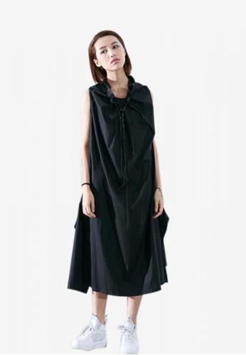 Zafiti black Sleeveless One Piece Dress C500AAAEFB5811GS_1
