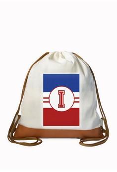 Drawstring Bag Sporty Initial I