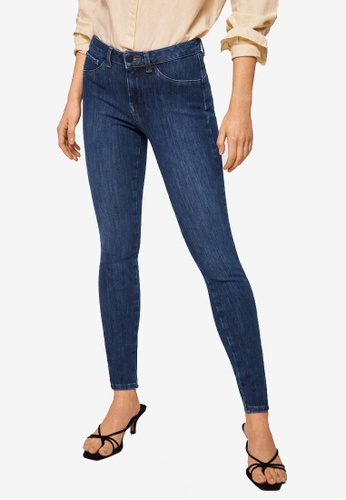 Mango blue Irina Skinny Push-Up Jeans ACA9EAAFCAFA2BGS_1