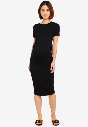 Dorothy Perkins black Maternity Black Short Sleeve Bodycon Dress 880D0AAA7A8A5CGS_1