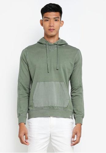 OVS green Basic Hoodie EE113AA7DC576BGS_1