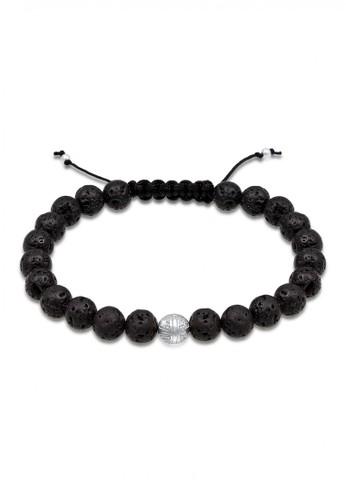 KUZZOI black Perhiasan Pria Perak Asli - Silver Gelang Man Lavabead Hitam PA085AC0UIPCID_1