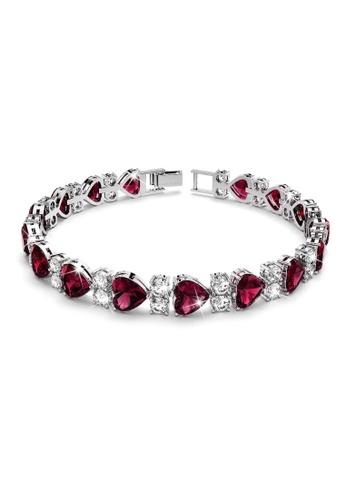 Annie Bloom silver ANNIE BLOOM Jasmine Bloom Bracelet in Ruby C41C1AC6CF4263GS_1