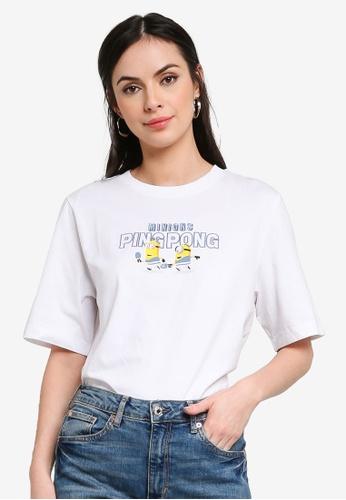 H&M white Oversized Cotton T-Shirt 66558AAFD7087EGS_1