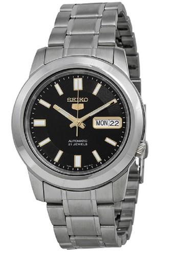 Seiko silver Seiko 5 Automatics 21 Jewels SNKK17K1 Stainless Steel Silver 2BB08AC60CB43AGS_1