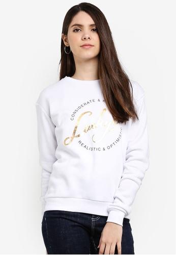 Cotton On white Ferguson Graphic Crew Sweater A101CAA84EFDF1GS_1