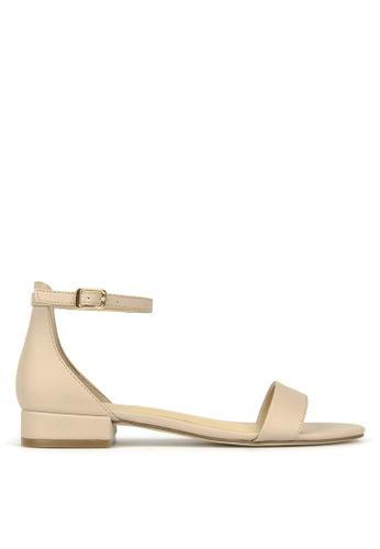 Betts beige Shady Low Block Heel Sandals 824D4SH9857A30GS_1