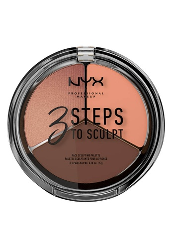 NYX Professional Makeup multi NYX Professional Makeup 3 Steps to Sculpt Face Sculpting Palette - DEEP DC079BE62A974EGS_1