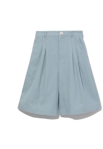 b+ab blue Bermuda shorts 07389AAC081515GS_1