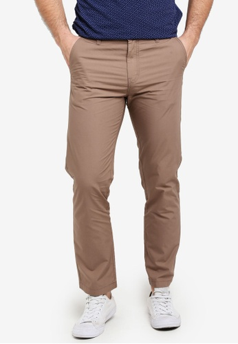 United Colors of Benetton brown Basic Chino Trousers 3BB45AA669C924GS_1