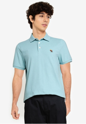 Abercrombie & Fitch blue Webex Core Polo Shirt 1854AAA3BFAB85GS_1