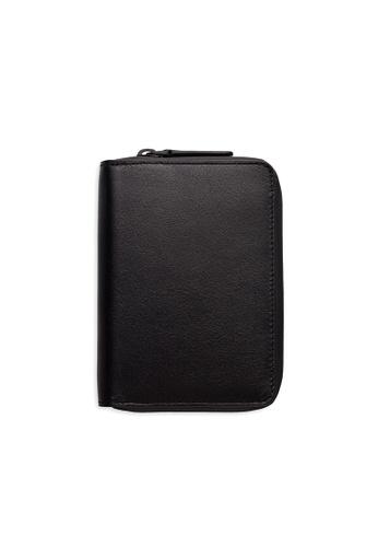 PLAIN SUPPLIES black INE Zipper Bifold Wallet in Black 13770AC687B93EGS_1