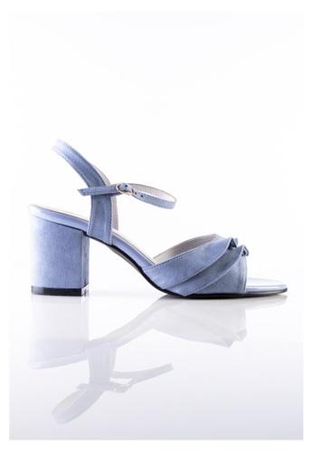 Stilaré blue Stilaré Alana Ruffle Shoe in Blue 95C4ESH69F2F01GS_1