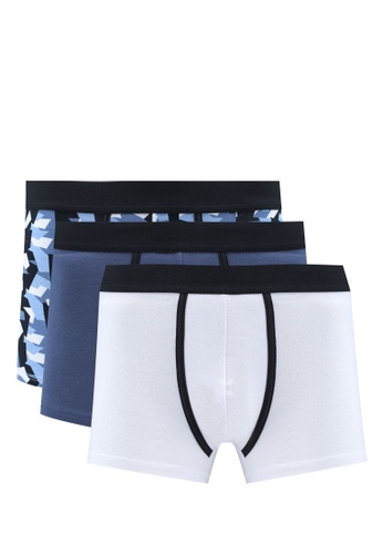 OVS black Cotton Boxers (Pack Of 3) 7A2C0US564067BGS_1