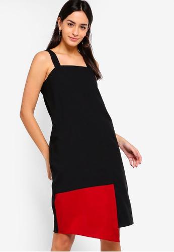 ZALORA black Overlapped Dress 75B1EAADF05B78GS_1