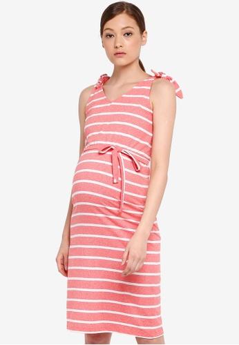 ed72f0da21fcb Mama.licious orange Maternity Annetta Jersey Dress 9CBDEAACD4DA28GS_1
