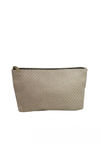 Stylesource beige Multifunction Organizer Storage Weave Toiletry Bag C9B8FAC0F5C004GS_1