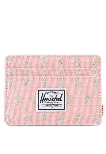 Herschel pink Charlie Cardholder 4CA70AC6C89A05GS_1