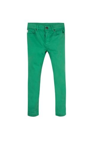 PAUL SMITH JUNIOR green PAUL SMITH JUNIOR BOYS LONG PANTS B1C2BKA7E08A0FGS_1