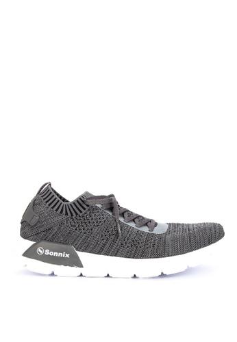 SONNIX grey CAVS Q317 Men's Lace Up Running Shoes 51F30SH9619C1DGS_1