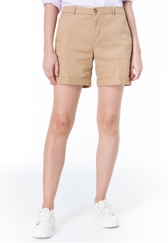 United Colors of Benetton brown Stretch Shorts 6A35BAACD24B18GS_1