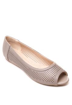 Shaina Peep-Toe Flats