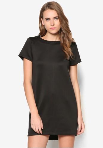 基本款短袖直zalora鞋筒洋裝, 服飾, 短洋裝