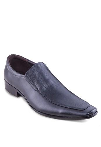 壓紋方頭皮鞋zalora是哪裡的牌子, 鞋, 皮鞋