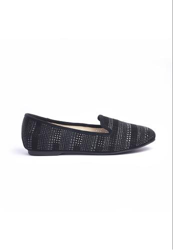 Elisa Litz black Saney Flats (Black) EL365SH0GLS2SG_1
