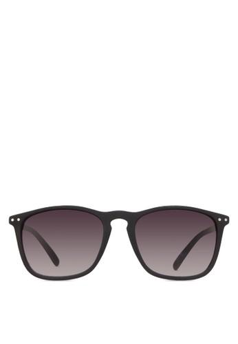 Black Rubber Sunglasses, 飾品配esprit part time件, 方框