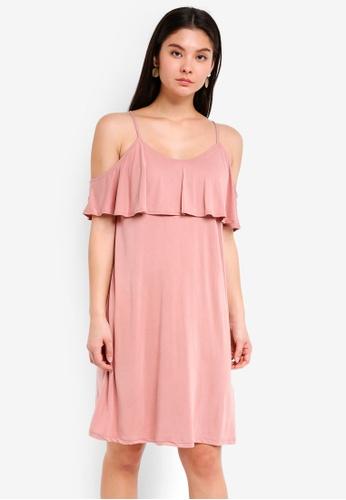 ICHI pink Like Dress 05360AA53E6D38GS_1