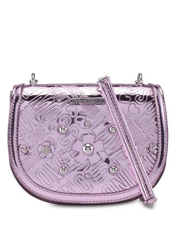 Love Moschino pink LOVE MOSCHINO Sling Bag LO478AC0SXWCMY_1