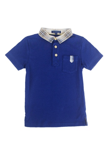 PERIWINKLE navy Giovan Polo Shirt 77F37KAB3C1585GS_1