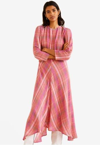c65a00d4e Shop Mango Check Pattern Midi Dress Online on ZALORA Philippines