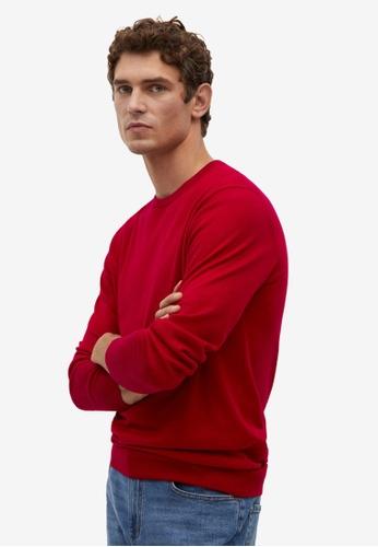 Mango Man red Merino Wool Washable Sweater 66D22AA61ACB7DGS_1