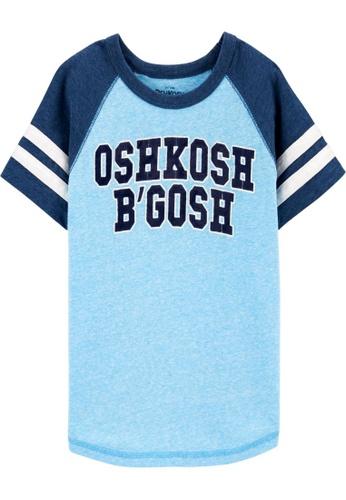 Oshkosh B'gosh blue OSH KOSH Boy Logo Short Sleeve Raglan Tee A4AD1KA456154CGS_1