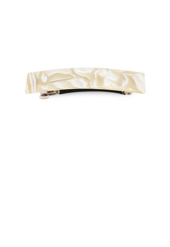 Glamorousky beige Fashion Temperament Beige Pattern Geometric Hair Slide 8B38DAC27E226FGS_1
