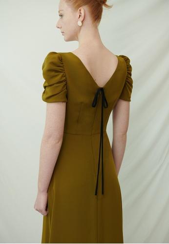 TAV [Korean Designer Brand] Queens Dress - Olive 3206BAAC9BC0C3GS_1