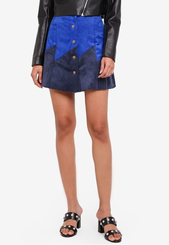 Glamorous navy Button Up Skirt 9ABACAAD796454GS_1