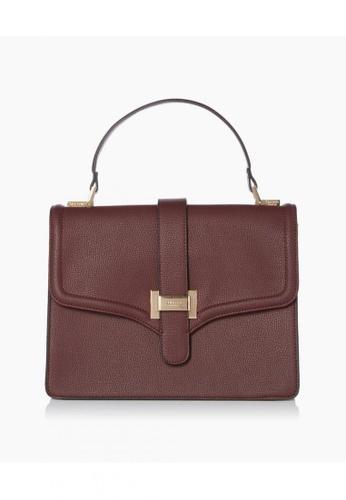 Dune London red Dellon Di Flap Top Handbag AC06CAC2167E0AGS_1