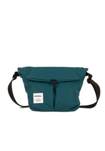 Hellolulu green Hellolulu Mini Kasen All Day Shoulder Bag (Teal) 652D8AC9E962BAGS_1