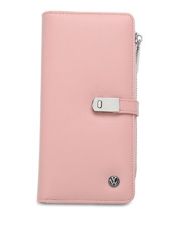 Volkswagen pink RFID Long Purse 200A1AC7B5ED4DGS_1