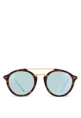 Fitzroy 玳瑁反光太陽眼鏡, 飾品配件, 飾品配esprit台灣件