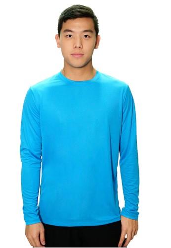 Trijee blue Trijee Men Dex Long Sleeve Tee - Light Blue B1C07AAA795F5EGS_1