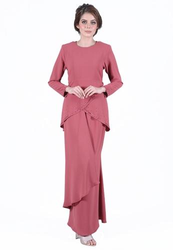 Kurung Jasmine from LARA NOUR in Red