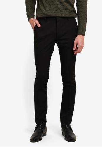 Topman 黑色 黑色 質感 Ultra 緊身 西裝長褲 TO413AA0S5LVMY_1